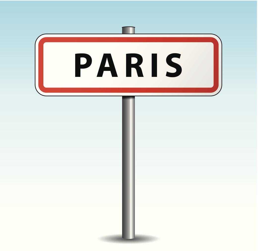 Panneau de la ville de Paris